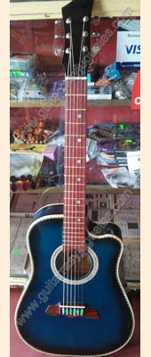 Guitarra Texana azul 1