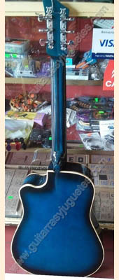 Guitarra Texana azul 2